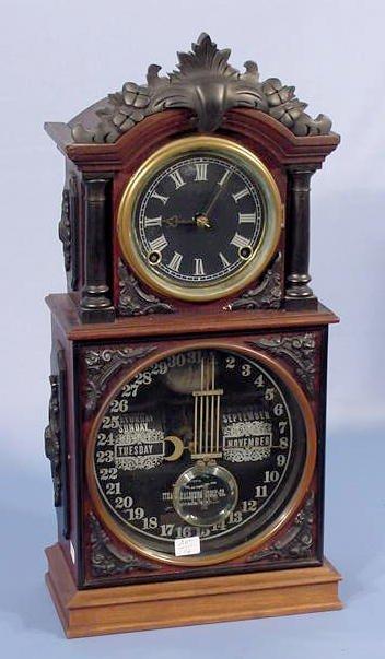 524: Ithaca No 3 1/2 Parlor Clock Offset Pendulum NR