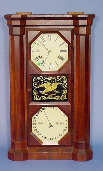 525: Seth Thomas Rosewood Parlor Calendar Clock NR