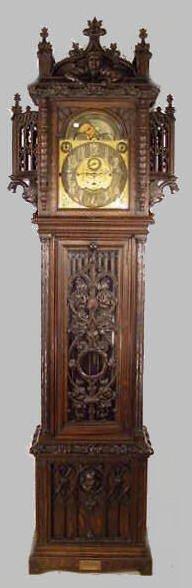 565: Signed Tiffany & Co. NY 3 Train Tall Case Clock