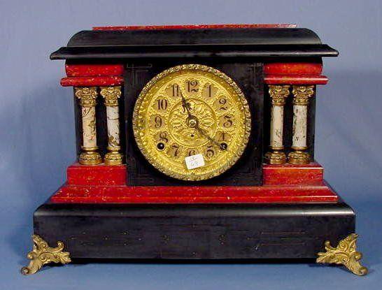 Seth Thomas Adamantine Mantel Clock NR