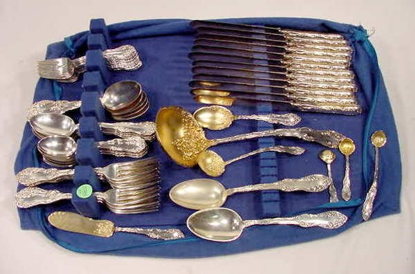 3788: 69 pc Towle Old English Sterling Flatware Set NR