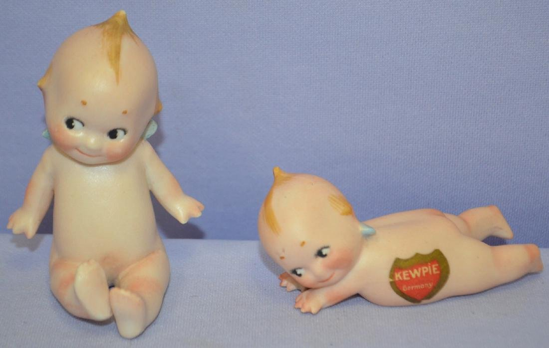 2 Antique German Doll Co. Bisque Kewpies