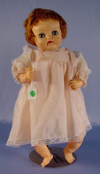 1222A: Ideal 1954-59 P6 Crying Doll w/Plastic Head, 21""