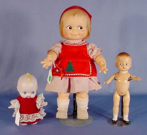 "1226A: Group of 3 Collectible Dolls, 14"", 7"" & 9"""