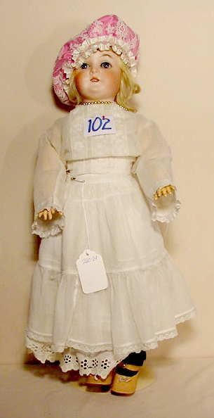 102: Queen Louise Bisque Socket Head Doll NR