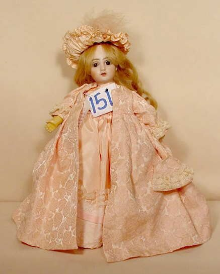 151: Bisque Socket Head Doll NR