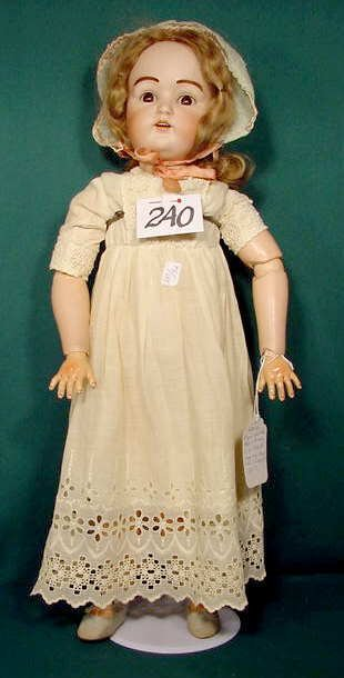 240: German Bisque Socket Head Doll H-12-J.D.K. NR