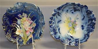 2 Flow Blue Bowls, Germany & Prussia