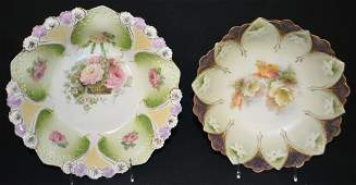 Two Signed RS Prussia Bowls