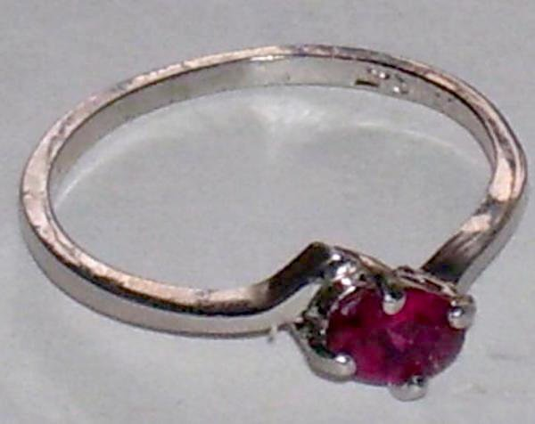 14A: .65ct Ruby Ring in 14k White Gold Mounting