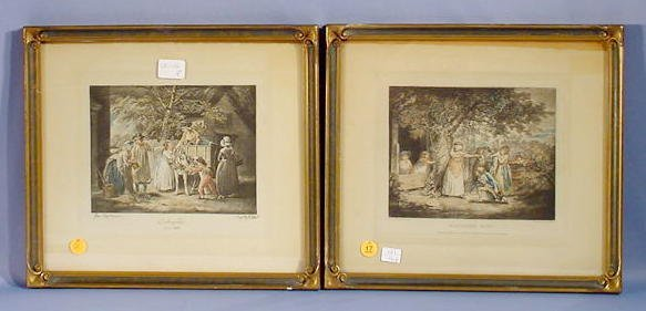 17: Pair George Morland Colored Prints