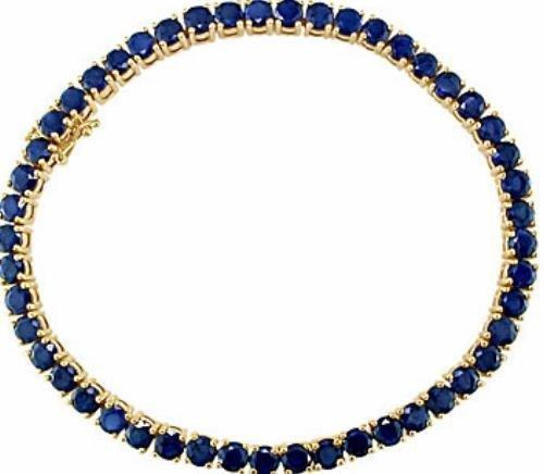 72A: 14kt Gold 21.25ct Sapphire Bracelet