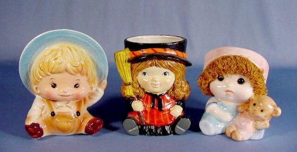 12: 3 Inarco Juvenile Head Vases