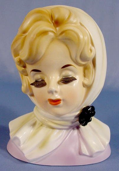17: Inarco Scarf Lady Head Vase