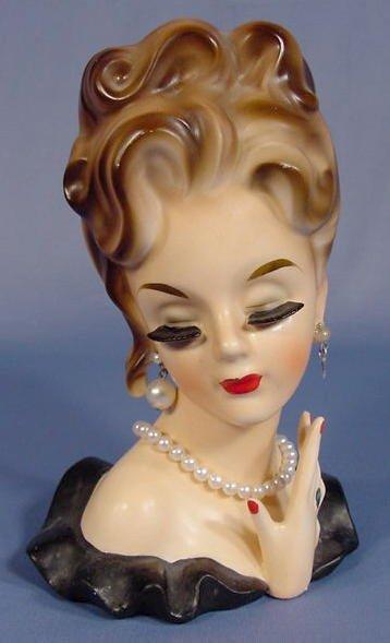 28: Inarco Lady Head Vase
