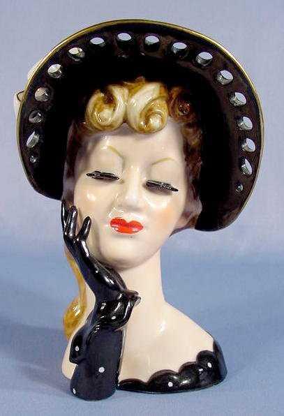 44 Napco Lady Head Vase On Liveauctioneers