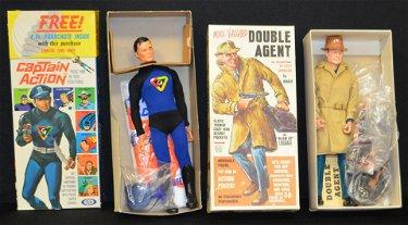 2 Action Figures: Captain Action, Double Agent