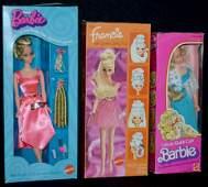3 Mattel Barbie Dolls, NRFB