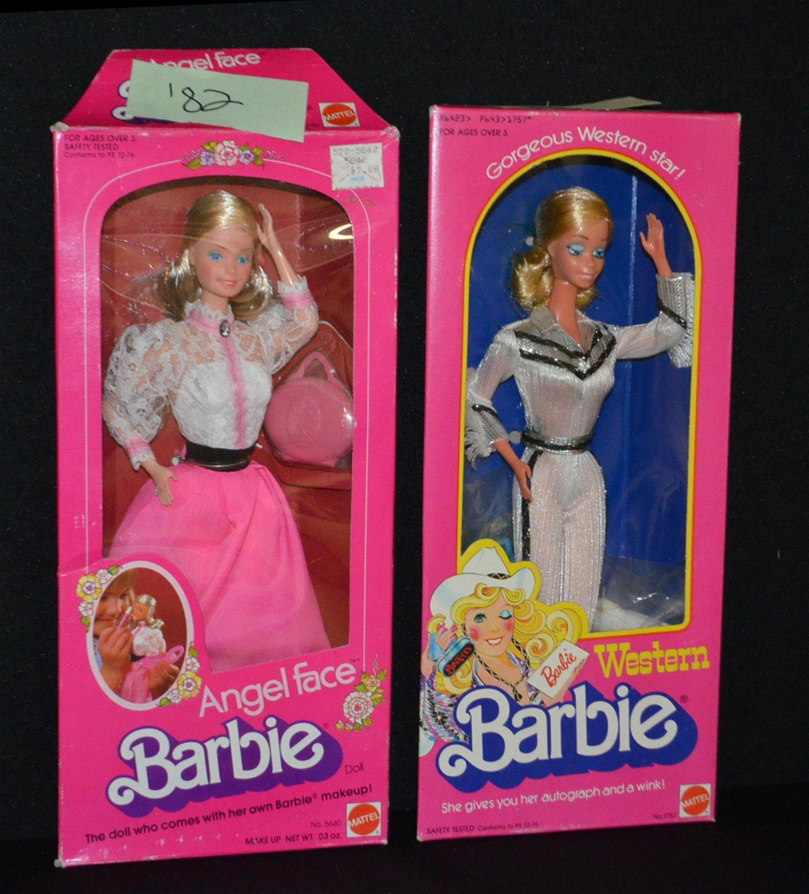 2 Mattel Barbie Dolls, NRFB