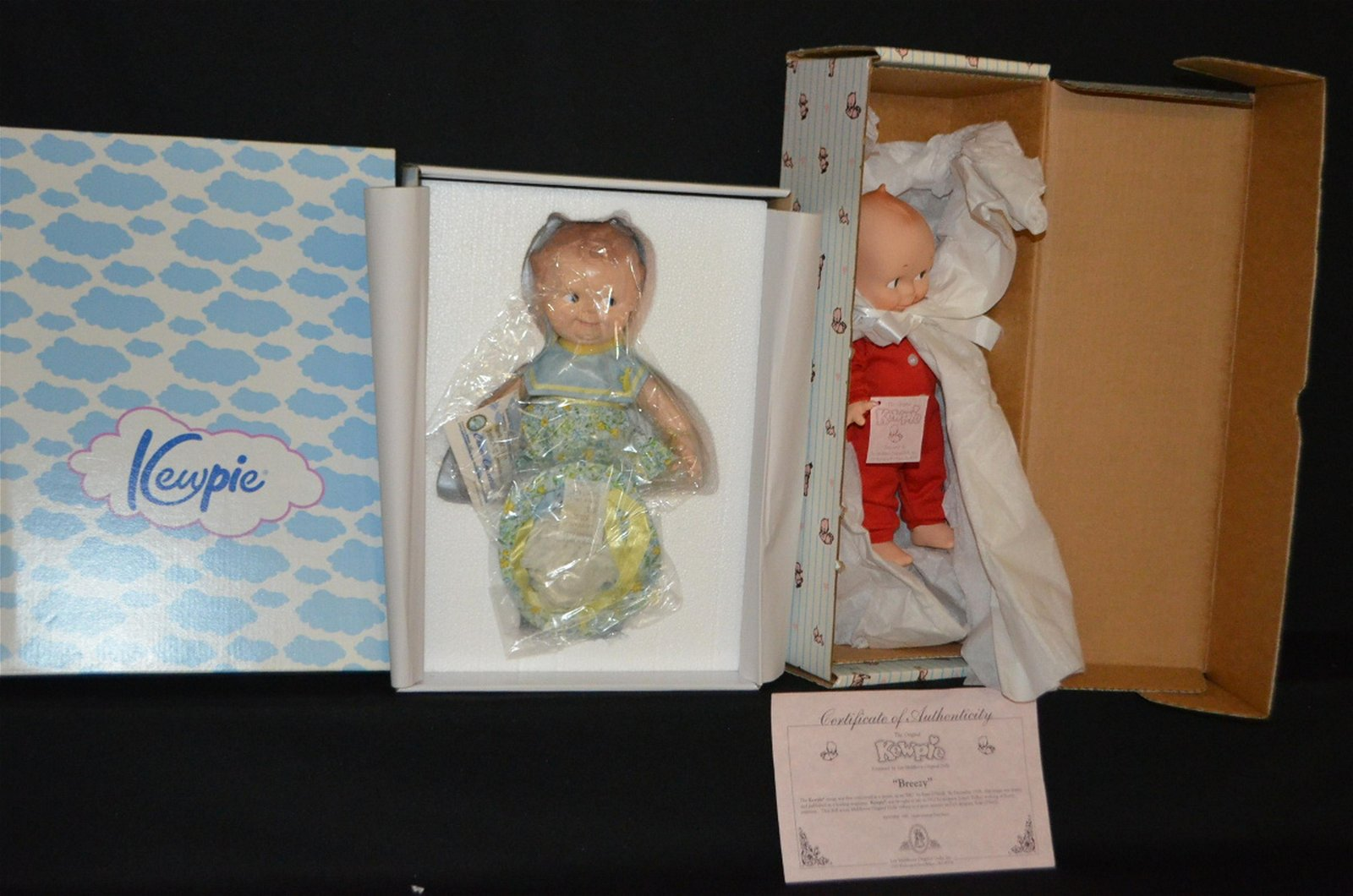 2 Kewpie & Scootles Dolls in Original Boxes