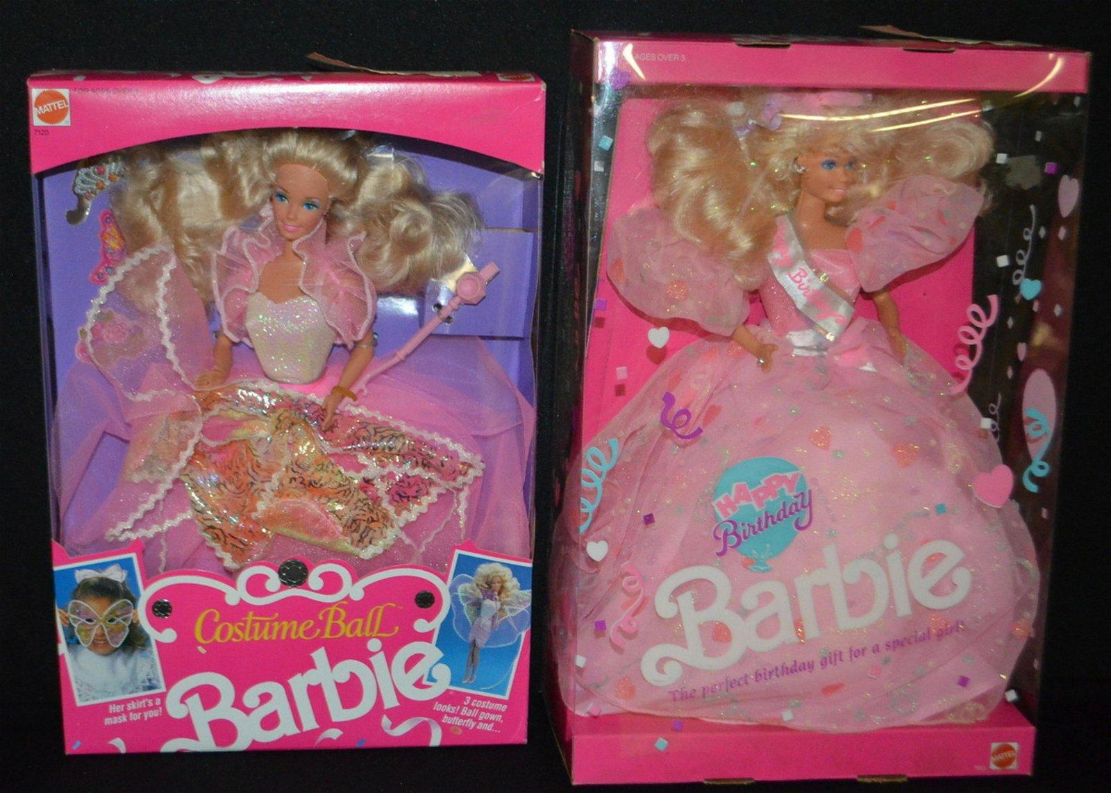 Mattel 1990 Barbie Dolls, NRFB