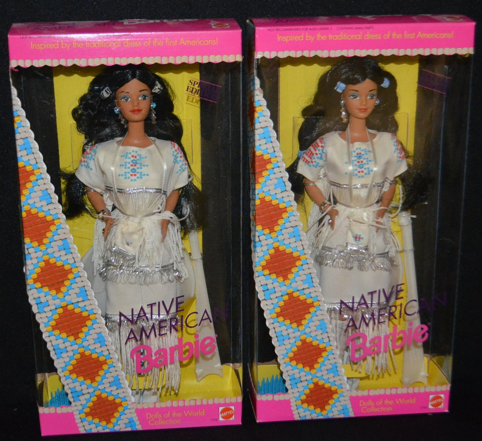 2 Mattel 1992 Barbie Dolls, NRFB