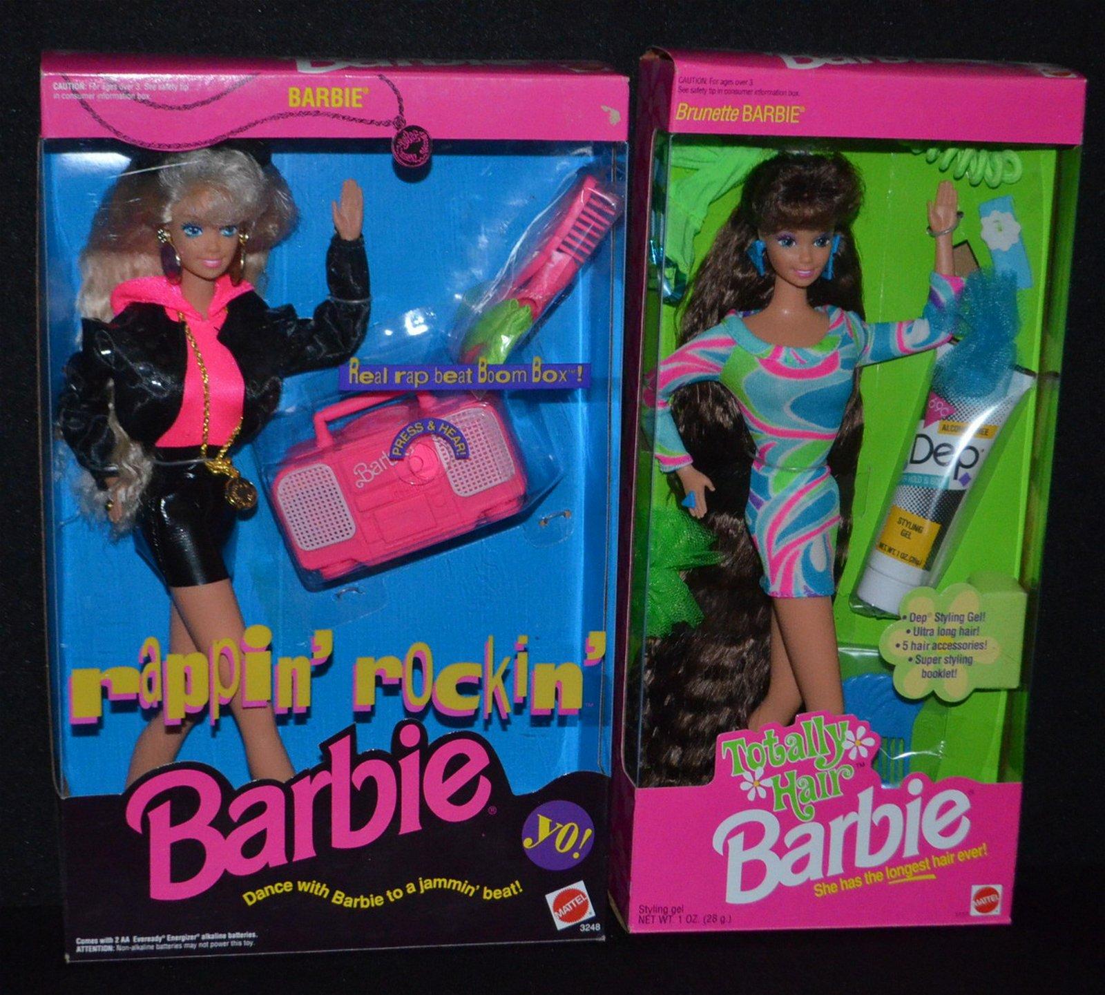 2 Mattel 1991 Barbie Dolls, NRFB