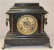 Antique Sessions Black Mantel Shelf Clock