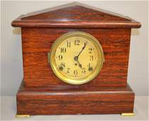 Seth Thomas Red Adamantine Mantel Clock