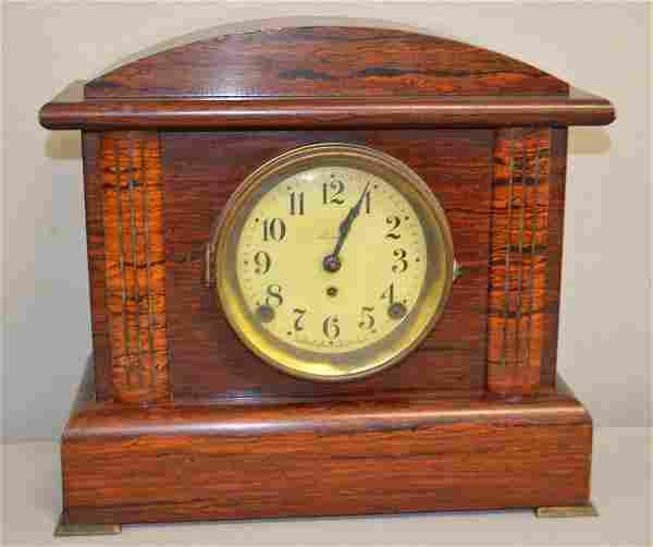 Seth Thomas Red Adamantine Mantle Clock