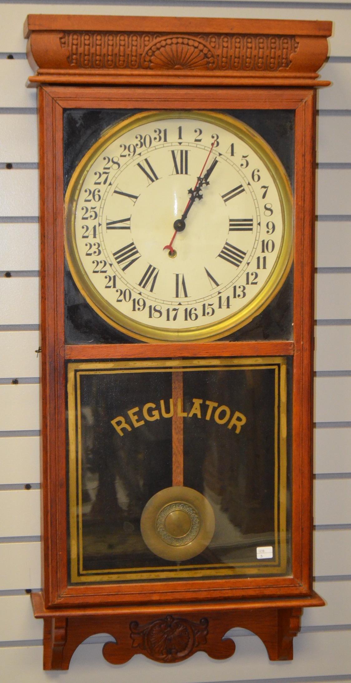 Antique Calendar Store Regulator Wall Clock