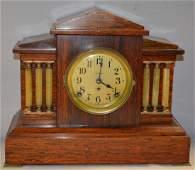 Seth Thomas Red Adamantine Mantel Clock: fully signed