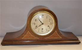 Seth Thomas 5 Bar W. M. C. Tambour Clock: walnut case,