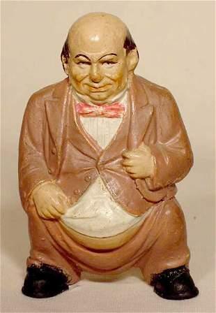 Pottery Bank of Figural Gentleman Excreting NR