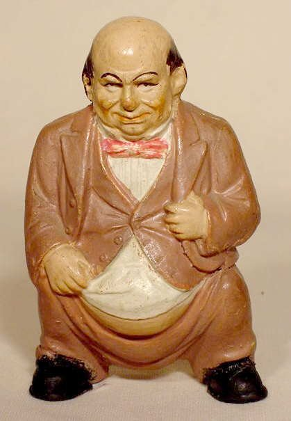 506: Pottery Bank of Figural Gentleman Excreting NR