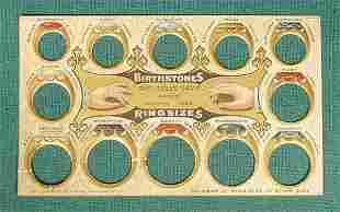 Newton Iowa Davis Advertising Ring Sizer 1905 NR
