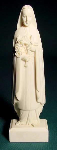 Carved Ivory 2-Piece Madonna NR