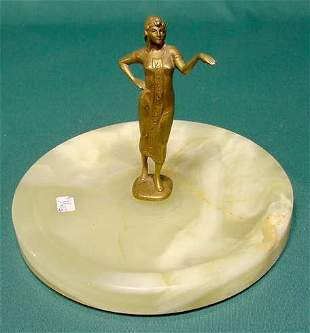 Bronze Figural Egyptian Female Figure with Tray NR