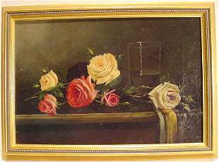 Early Oil on Canvas Painting - Unsigned NR