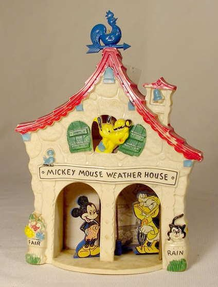 518A: Mickey Mouse Weather House NR