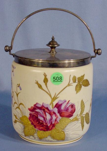 508: English Pottery Biscuit Jar
