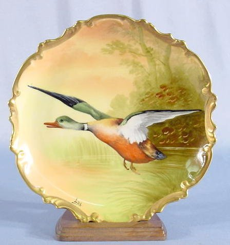 516: Limoges Coronet Game Bird Wall Plaque