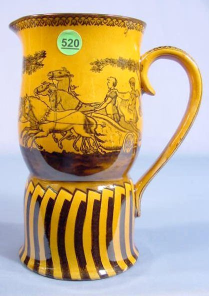520: Doulton Burslem Jug with Classical Chariot Scenes