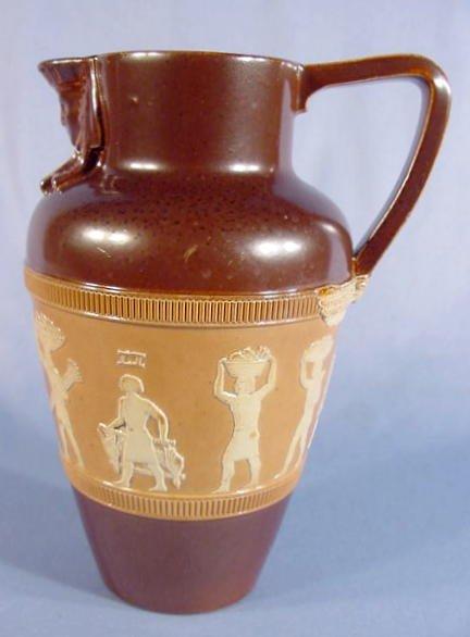 525: Royal Doulton Stoneware Jug w/Egyptian Theme
