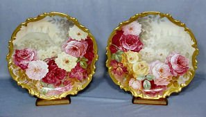 708: Pair Limoges Wall Plaques