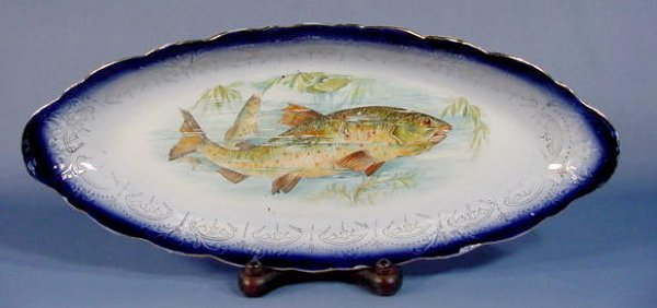 10: China Fish Platter with a Colorful Fish Decal