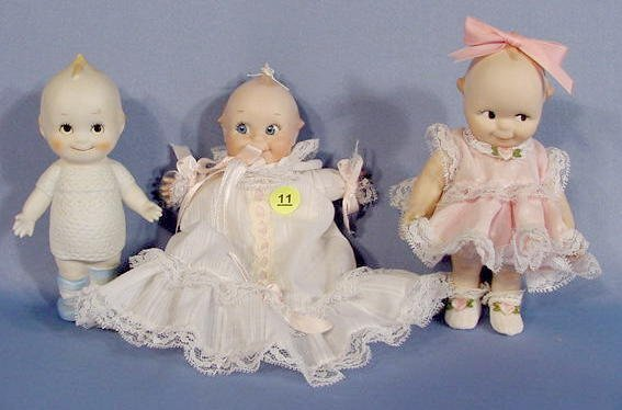 11: Group of 3 Unmarked Kewpies