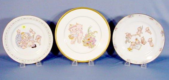 15: Group of 3 Kewpie Decorated Plates