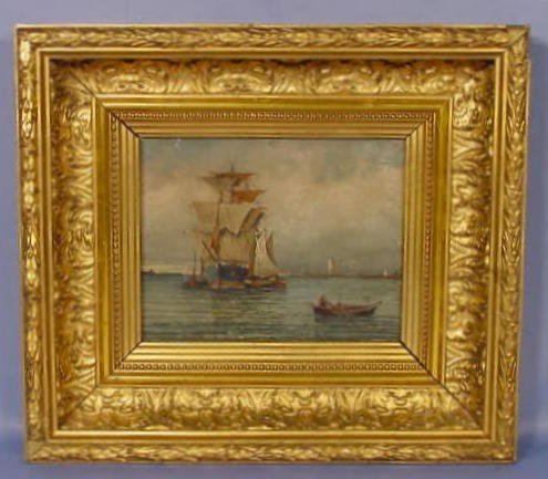 1006: E.M. Chantor Ship's Painting on Board