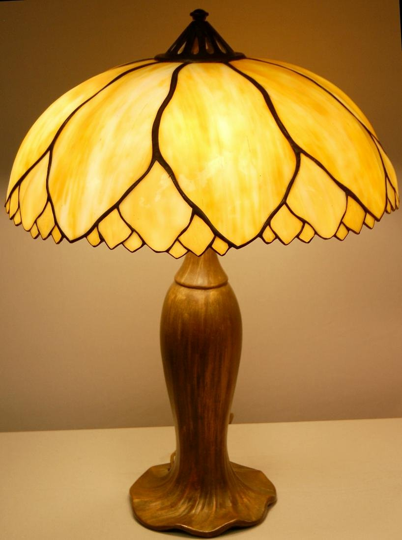Signed Handel Molded Table Lamp